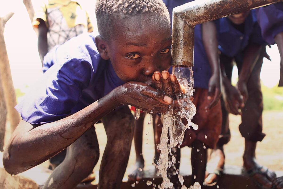 Water helps poor